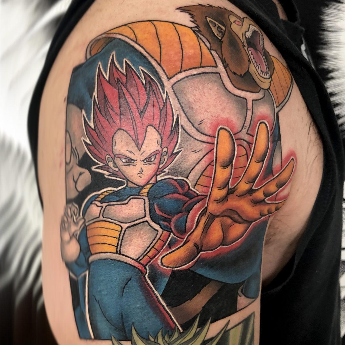 vegeta dragonball super anime tattoo